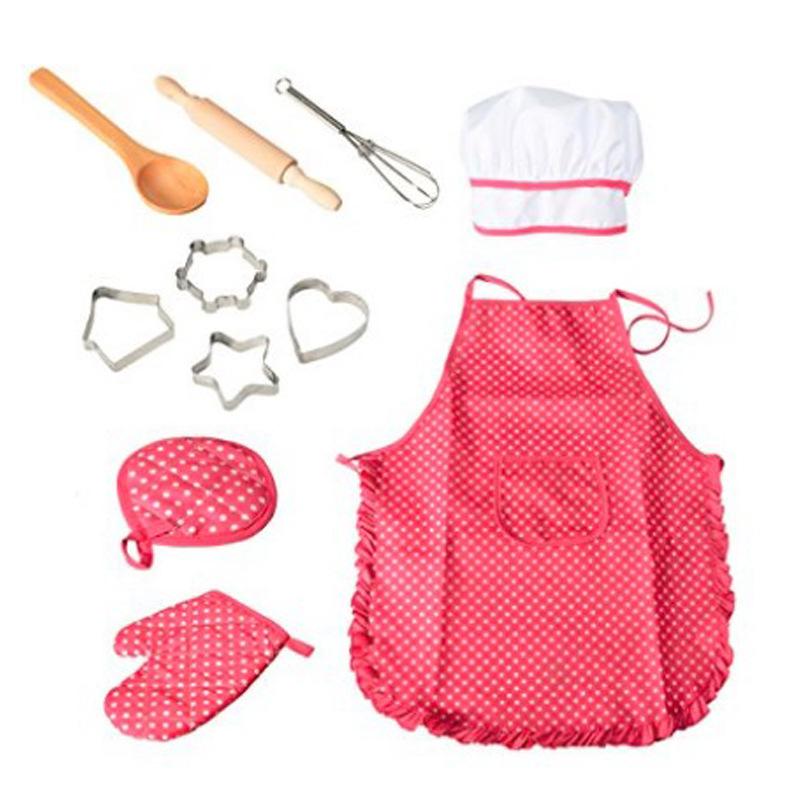 Детский набор для приготовления пищи и выпечки 11 шт. одежда кухни игровые undefined