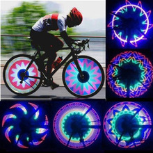 32 LED Wheel Signal Lights Colorful Rainbow for Bikes Bicycles Fixed on Cycle Spoke Light Hot Promotion wholesale(China (Mainland))