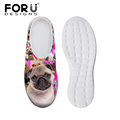 pug dog printed shoes Breathable for hot summer female Flip Flops fashion women sandalias ladies slippers