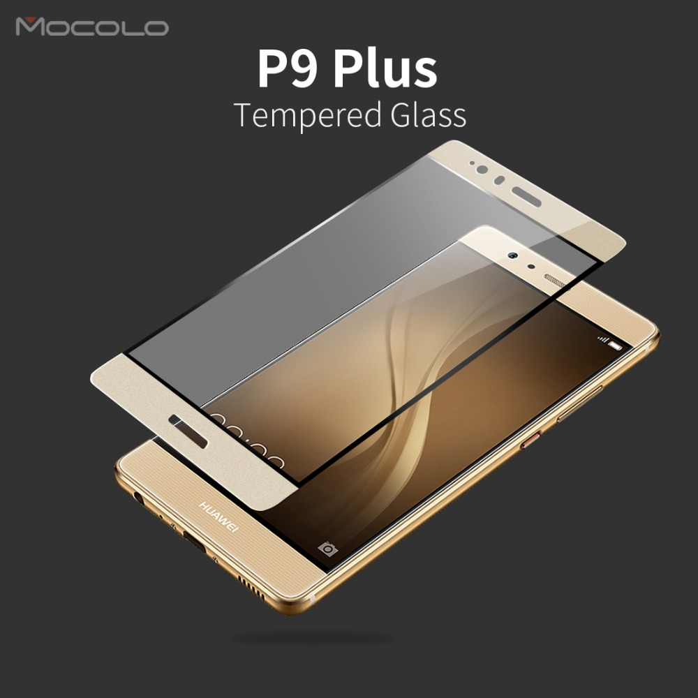 Mocolo Full Cover Tempered Glass Protector for Huawei Ascend P9 Plus Mobile Phone Glass Protective Film(China (Mainland))