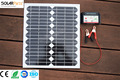 Solarparts 1x15W Glass Solar Module cell kit system panel high efficiency 12V Solar Off Grid Camp