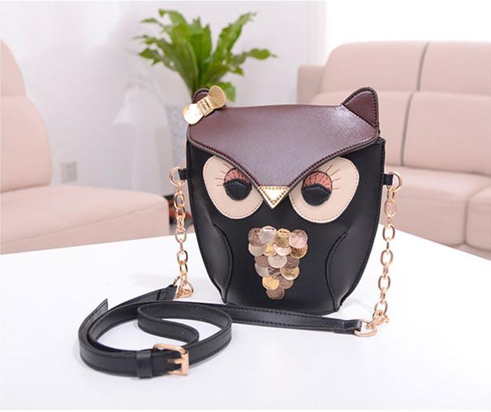 Superb! 2015 Cute Owl Print Satchel Messenger Shoulder Bag Handbag Cross Body Purse Alipower(China (Mainland))