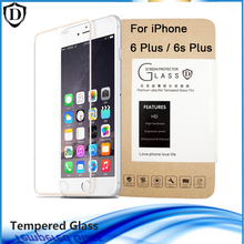 For iPhone 6s plus 6 plus Tempered Glass Screen Protector Full Cover 3D Arc edge to edge Toughened Film Super HD with retail box
