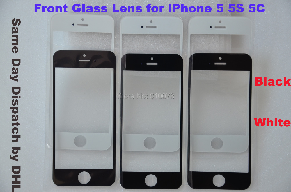 New Front Replacement Touch Screen Glass for iPhone 5 5C 5S Front Replacement Screen Outer Glass Lens  Free Shipping by DHL
