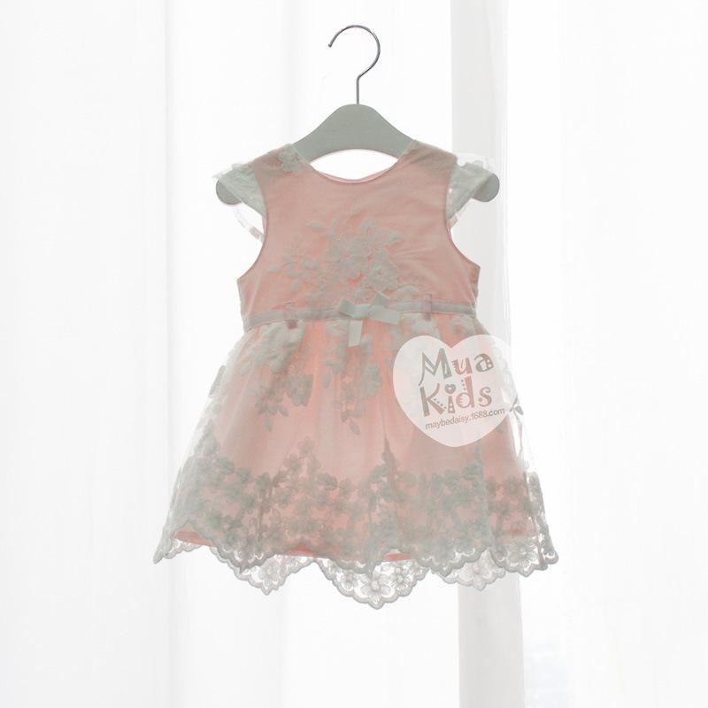 Girls Lace Floral Dresses Kids Girl Summer Mesh Princess Dress Baby Girl Bow tutu Dress 2016 Babies Clothes kids clothes<br><br>Aliexpress