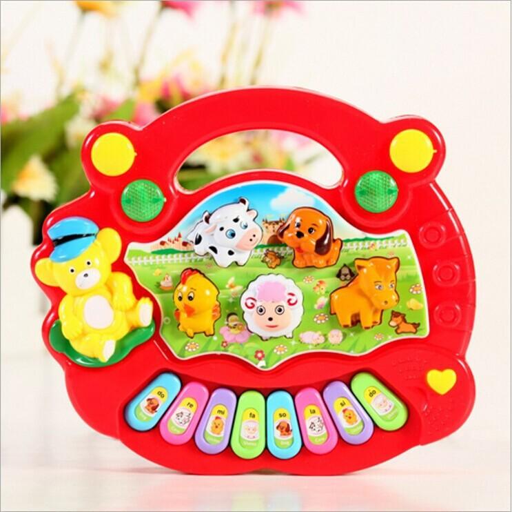2015 New Kid's toys Electrical Keyboard Developmental Piano Toy, Popular Animal Farm Piano Music Toy(China (Mainland))