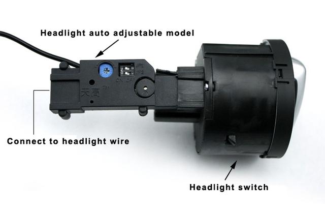 Headlight auto adjustable system inclduing chrome control switch fit for VW TIGUAN GOLF JETTA MK5 PASSAT CC B6 B7L TOURAN