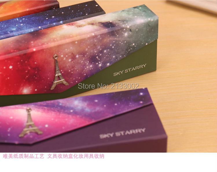 Fantastic Star Sky Galaxy Casvas Hasp Pencil Case Stationery Storage Bag School Office Supply Stationery