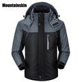 2017 Men s Winter Jackets Mens Thicken Patchwork Outwear Coats Male Hooded Parkas Thermal Warm Plus