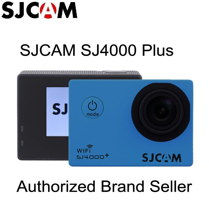 Оригинал SJCAM SJ4000 + Плюс 2 К 30fps Гироскопа Шлем Action Sports Камеры 30 М Подводный Водонепроницаемая Full HD 1080 P 60fps Спорт DV