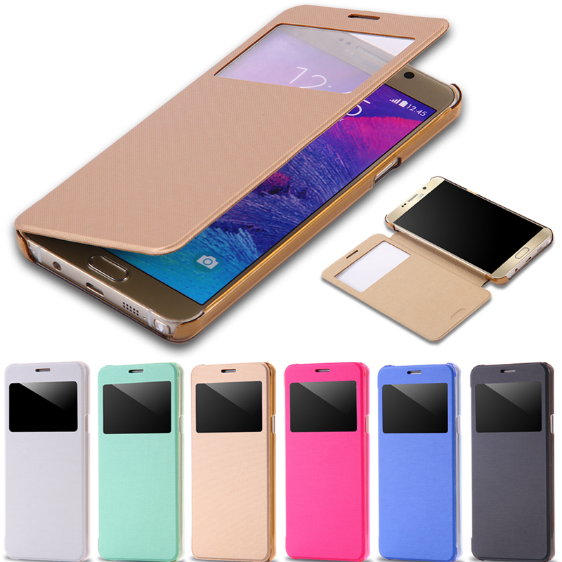 Ultra Thin Fashion Window Leather Case Samsung Galaxy Note 5 N920 Slim Hard Clear Protective Cover - Shenzhen RCD Technology Co., Ltd. store