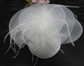 DL046 Fashion design British style little face veil with Feather HAIR ACCESSORIES short veil ornaments Xmas wedding