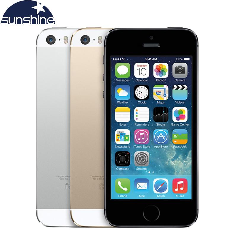 "Apple iPhone 5S Original Unlocked iPhone5s Mobile Phone Dual Core 4"" IPS Used Phone 8MP 1080P Smartphone GPS IOS Cell Phones(China (Mainland))"