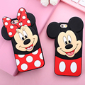 New Cute 3D Polka Dot Mickey Minnie Mouse Cartoon Capa Soft Silicone Phone Case For iPhone