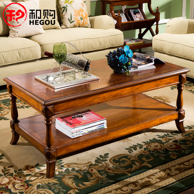 American Country Furniture Antique Tea Tables Double Wood