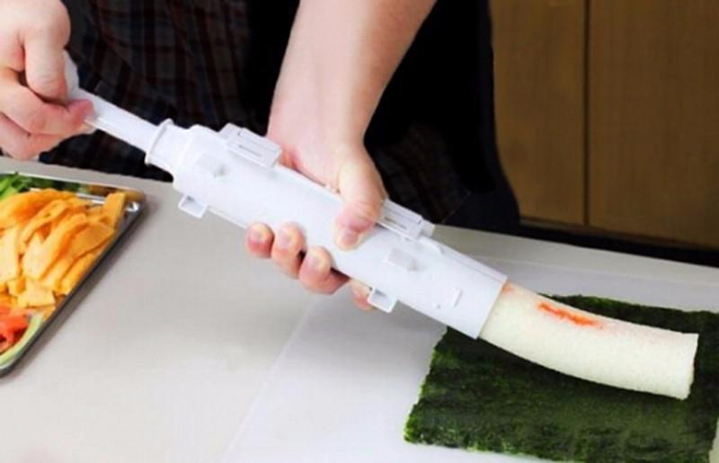 Bazooka Sushi Maker Mold DIY Sushezi Roller Kit Rice Roller Mould Sushi Making Tool Set Kitchen Gadget Cooking Tools