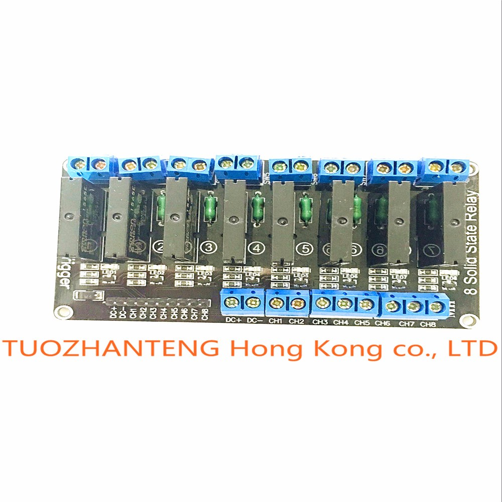 10pcs 8 Channel 5V DC Relay Module Solid State High Level SSR AVR DSP for Arduino
