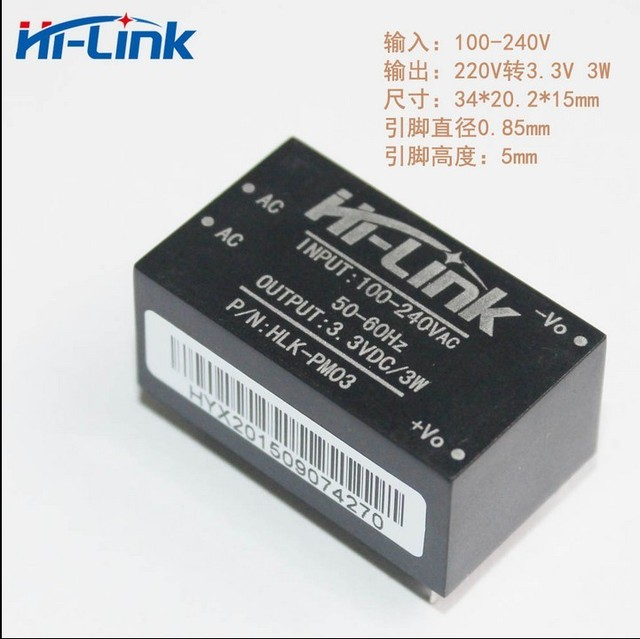 220v 3.3v ac - DC isolated power supply module, HLK-PM03, switching step-down power module