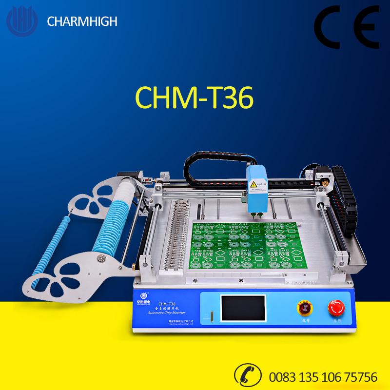 CHMT36 Desktop SMT Chip Mounter LED Pick and Place Machine English Charmhigh (CHMT36) Discount!(China (Mainland))