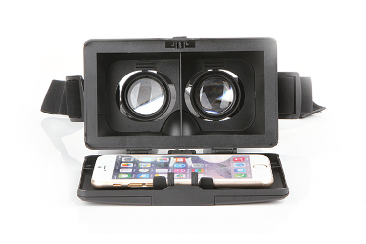 Head Mount ABS Helmet for 3 5 6 inch Smartphone Polarized 3D View Glasses Cardboard Mirror