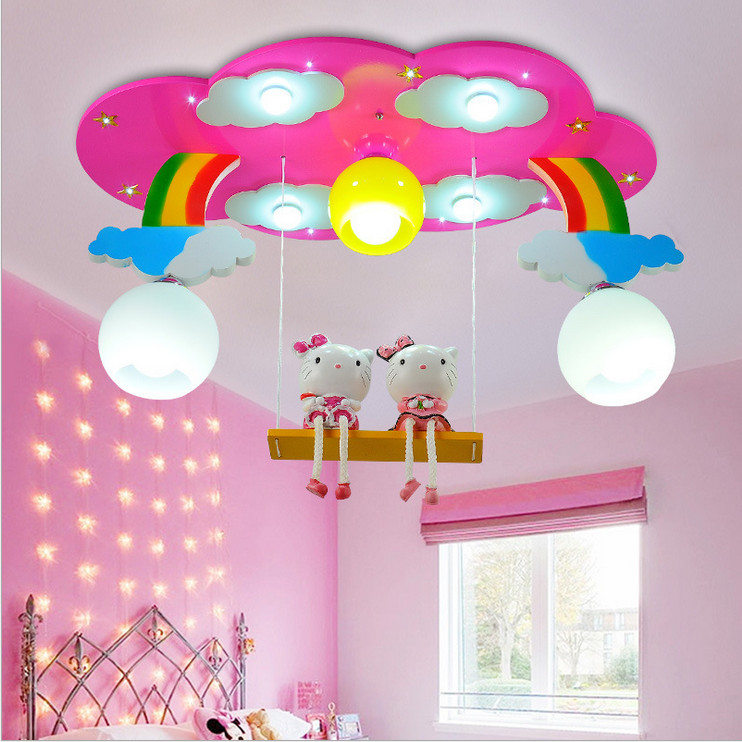 Modern cartoon ceiling light kids bedroom bulb light for Lights for kids room