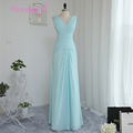 Dressgirl 2016 Cheap Bridesmaid Dresses Under 50 A line V neck Floor Length Mint Green Chiffon