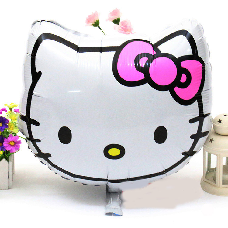 18inch 10 pcs/lot hello kitty balloon birthday party supplies favors foil - the home of store
