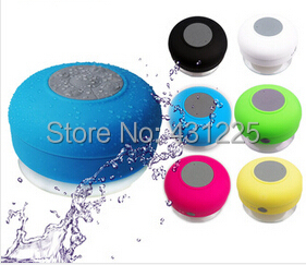Portable wireless Bluetooth waterproof Speaker Shower Car Handsfree Receive Call Suction Cup Mic - Will beautiful Life _Online Bidding store