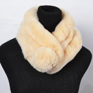 Free shipping high quality rabbit fur scarves fashion women warm winter