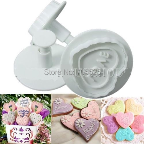 I Love Cake Design Puntata 3 : FD590 Sweet Love Cute Heart Fondant Cake Cookie Decorating ...