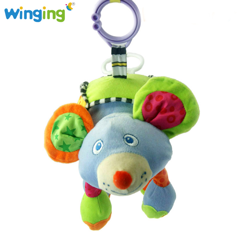 Soft Crib Toys : Baby musical toys soft plush crib bed hanging bell stuffed
