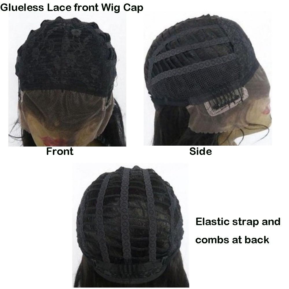 glueless lace front wig cap 1