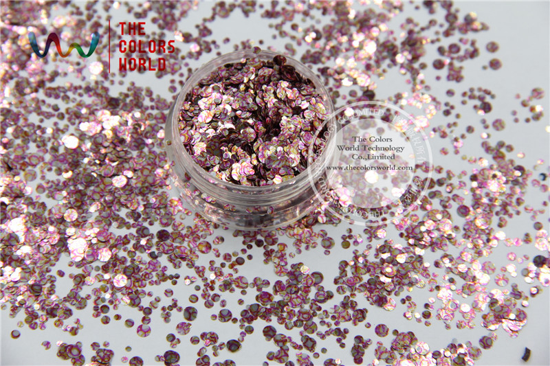 TCB087-R321 Mix Dot shapes round Glitter for nail art ,nail gel, nail Polish makeup and DIY decoration(China (Mainland))