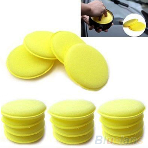 12x Waxing Polish Wax Foam Sponge Applicator Pads For Clean Cars Vehicle Glass Accessories 02CJ 4AGM