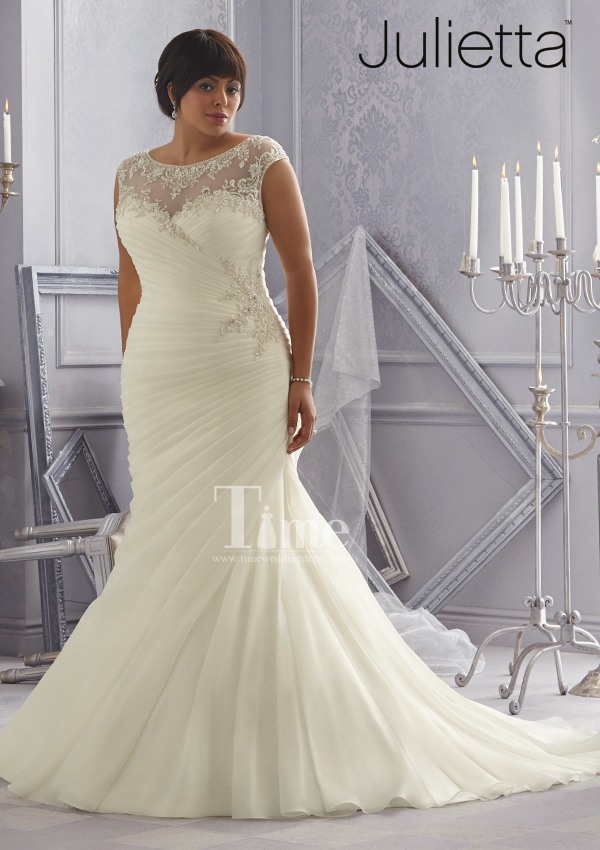 Mermaid high neck plus size wedding dresses 2014 new style for Plus size champagne colored wedding dresses