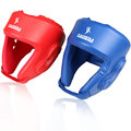 FREE Quality strong double Leather MMA Helmet Blue Red adult men women fighting taekwondo muay thai