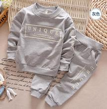 1-6Y new arrival Boy clothing set kids sports suit children tracksuit girls Tshirt pant baby sweatshirt character casual clothes(China)