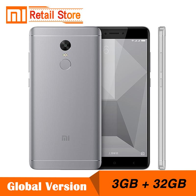 "Global Version Xiaomi Redmi Note 4 Snapdragon 625 Octa Core CPU Mobile Phone 3GB RAM 32GB ROM 5.5"" FHD 13.0MP 4100mAh Band B4(China (Mainland))"