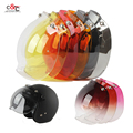 free shipping capacete casco 3 snap bubble shield visor vintage retro motorcycle helmet shield glass open