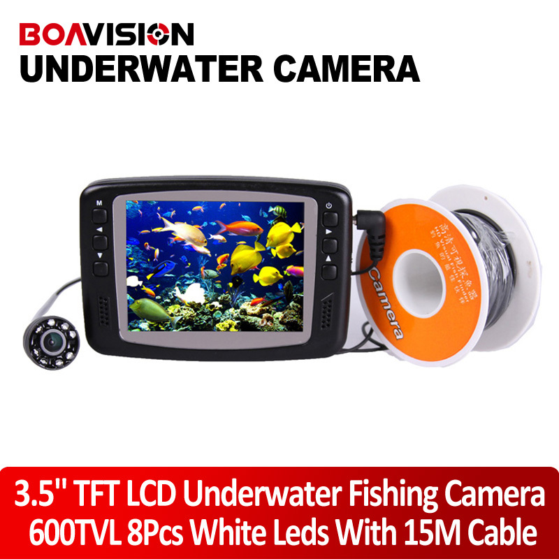mini Portable Night Vision Fish Finder Camera Underwater Fishing Camera with 15M(49.5FT) Cable With 3.5 Inch Color Monitor(China (Mainland))
