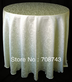 "!20"" Dia Top quality damask table cloth"