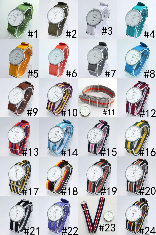 High Quality Men Boy Ladies 20MM Nylon Watch Band Strap Fashion Quartz Watch U46F1, Free Shipping(China (Mainland))
