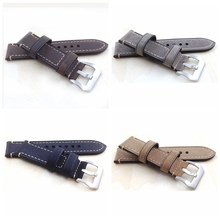 P style Hand made high quality fine imported Italian leather watch strap &band 20mm  22mm 24mm with stainless steel buckle