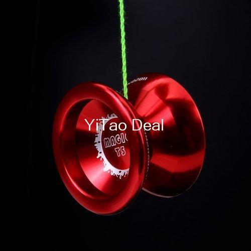 Free shipping Magic YOYO Red T5 Alloy Aluminum Professional Yo-Yo YoYo Toy(China (Mainland))