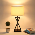 Nordic Idyll Cloth Lampshade Iron Bracket LED Table Lamp Modern Home Furnishing Decorative Lighting Desk Lamp