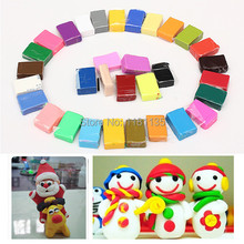 Fashion 32 Pcs/lot DIY For Fimo Effect Polymer Modeling Clay Soft Colorful Blocks Plasticine Craft Toy(China (Mainland))