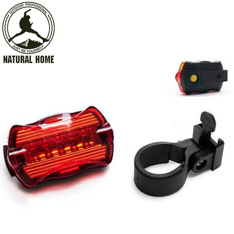[NaturalHome] Brand LED Bike Light 5 LED Cycling Sports Rear Tail Lights Red Bike Bicycle Back Light Parking Taillight Led Lamp(China (Mainland))