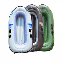 2 / 3 / 4 Person inflatable PVC Boat Raft Kayaks for Fishing Travel with Manual Air Pump Oars Repair Kit White Green Brown(China (Mainland))