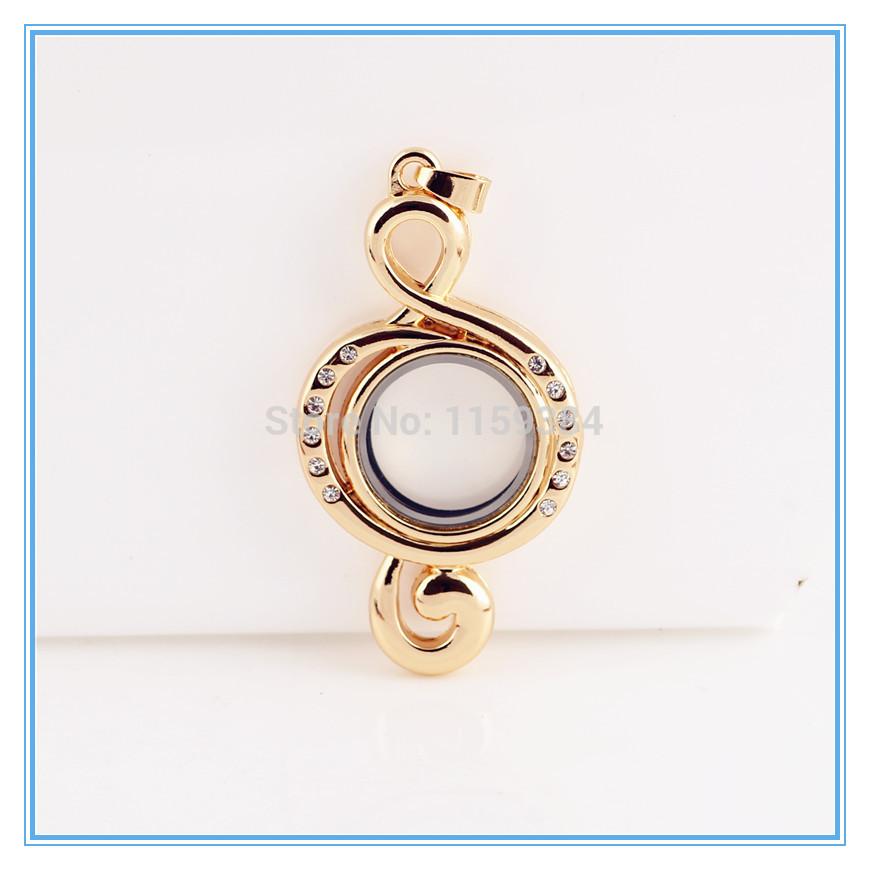 10pcs lot fashion gold note pendant necklace jewelry