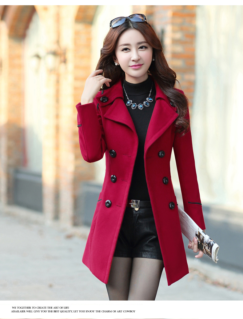 1f6a427578ddf 2019 Plus Size 2018 New Fall And Winter Clothes Woman Long Design Wool Coat  Female Fashion Slim Thin Long Blends Trench Overcoat XXXL From Yzy1102